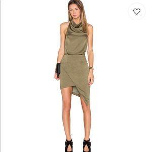 """Elliatt silk blend """"camo"""" dress in olive sz small"""